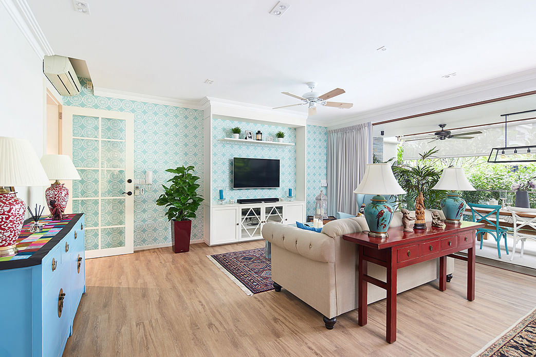 House Tour: A Bukit Timah condo apartment packed with patterns title=