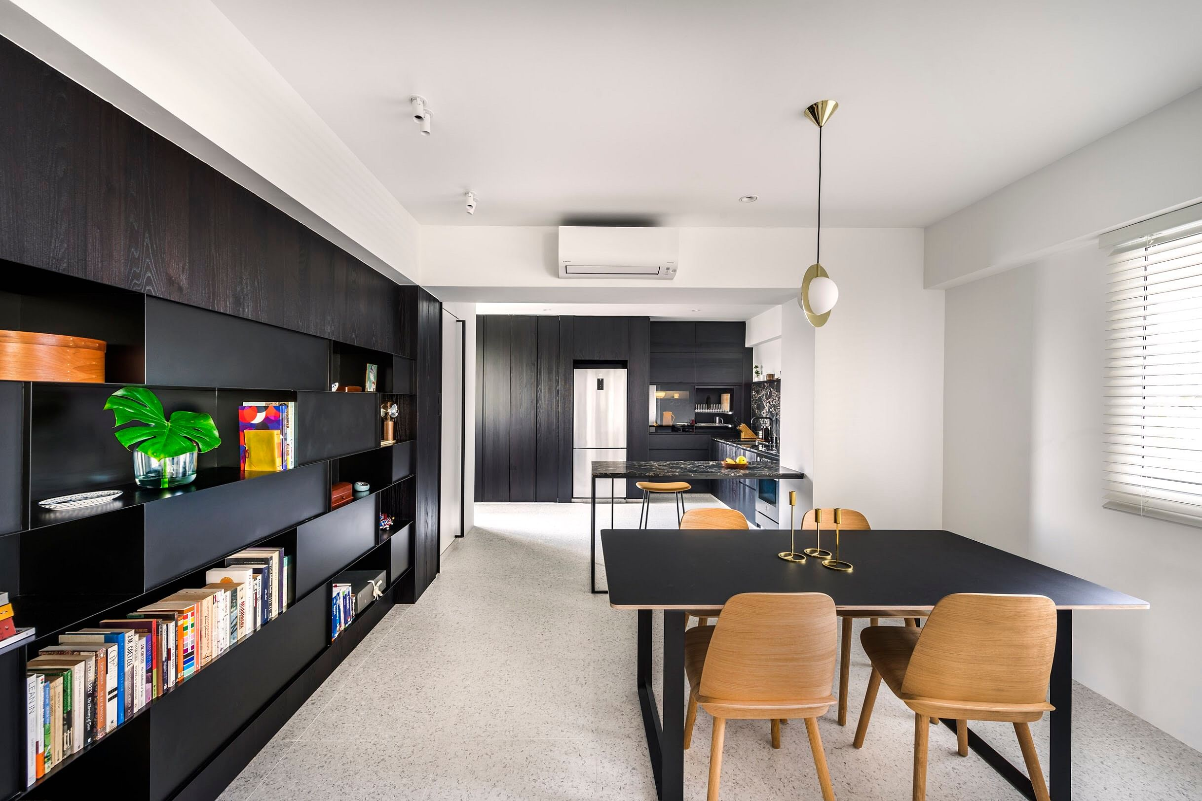 House Tour: Spacious, monochromatic four-room resale HDB home with lots of storage title=