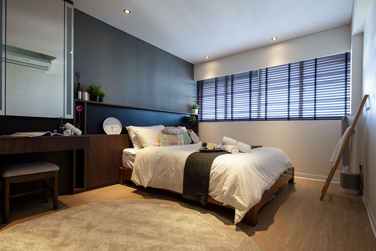 House Tour: This four-room Bedok home features a modern and rustic look title=
