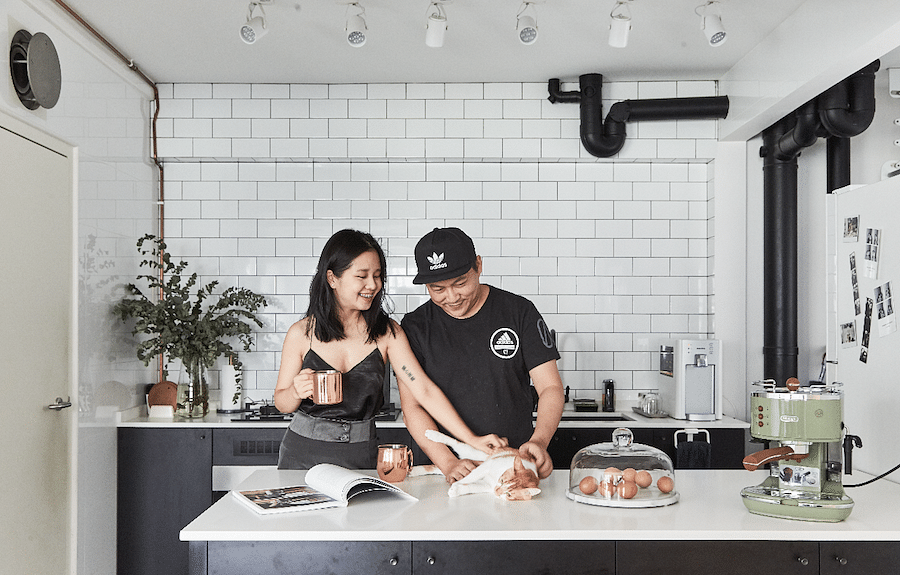 House Tour: A chic and minimalist black-and-white BTO home in Tampines title=