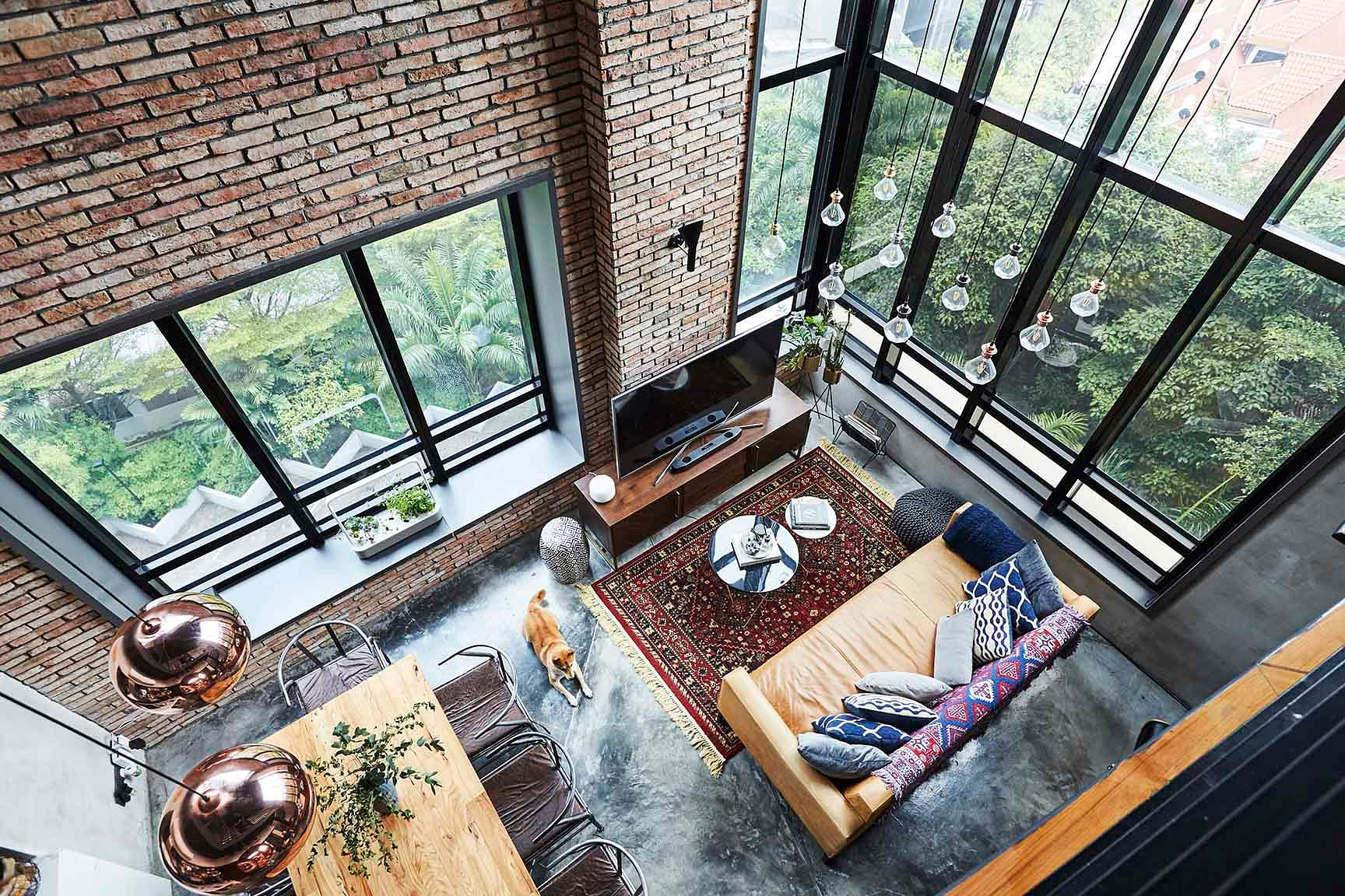 House Tour: Industrial-style loft-inspired duplex condominium apartment in Bukit Timah title=