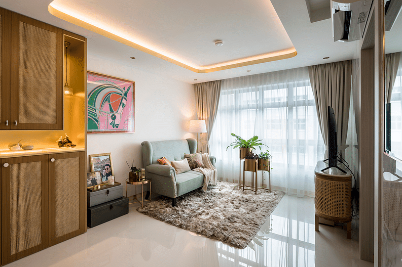 House Tour: A white and gold three-room HDB apartment in Macpherson title=