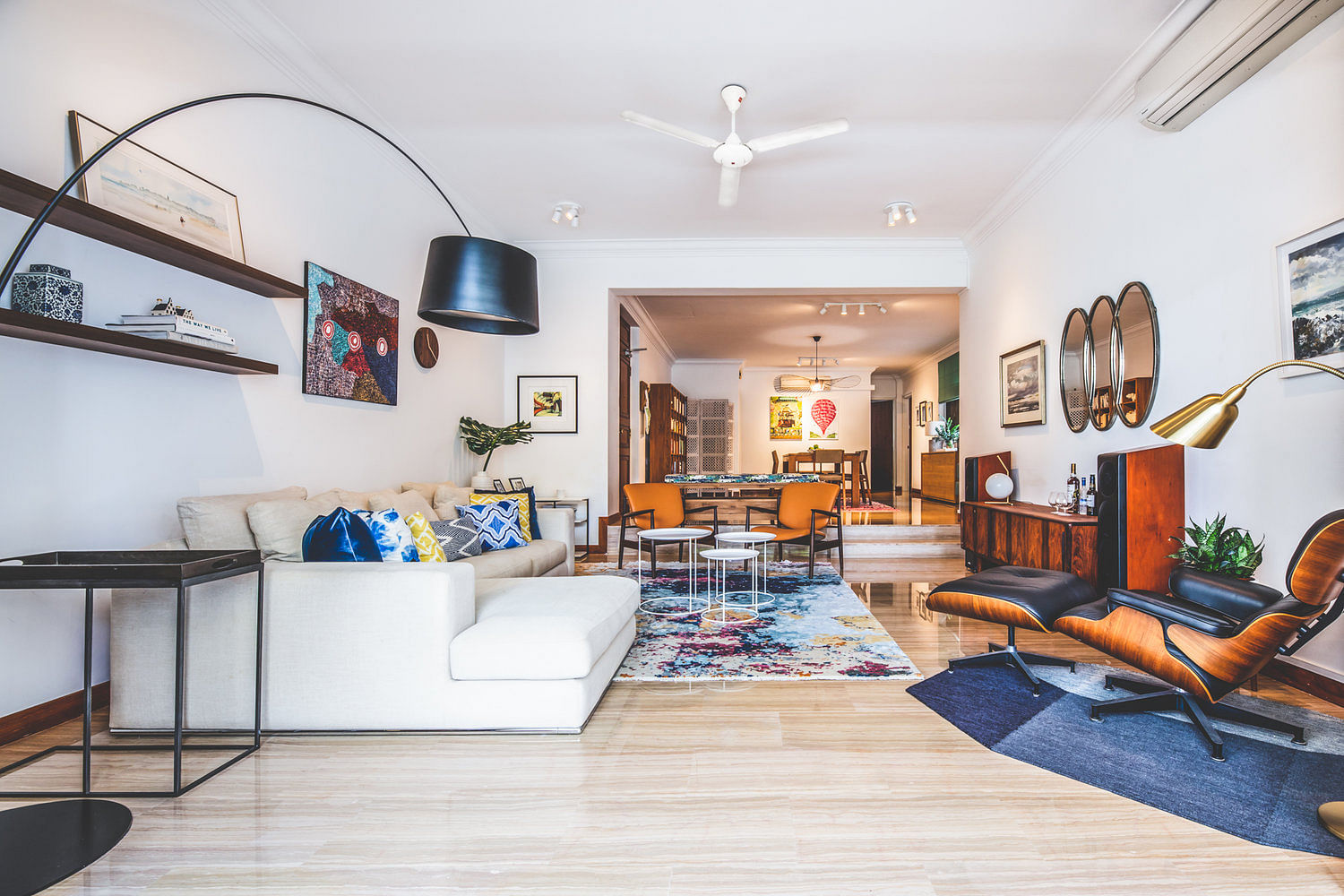 House Tour: A spacious and colourful three-bedroom condominium apartment title=