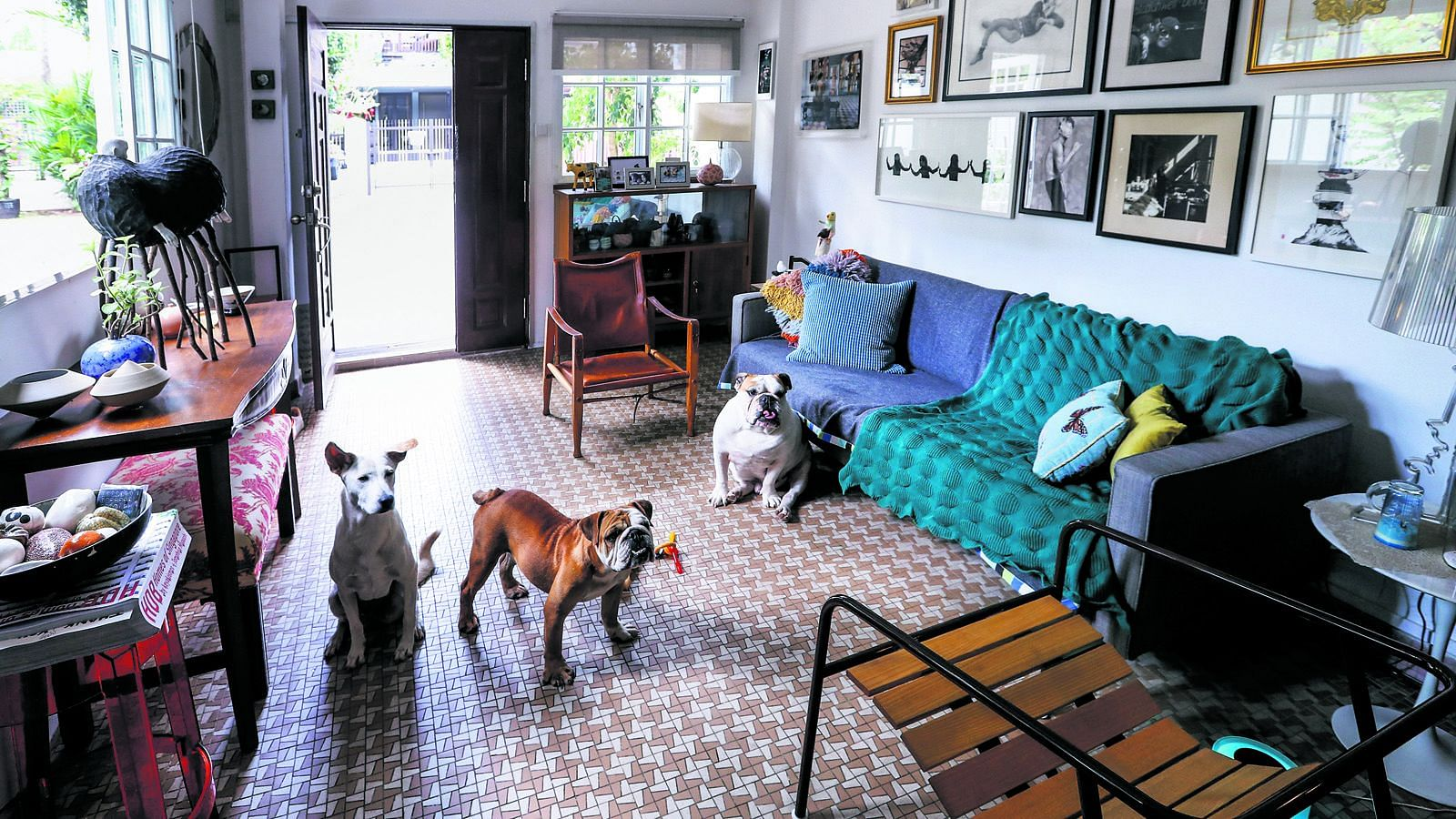 House Tour: This homeowner designed his semi-deteched house around his dogs and art collection title=