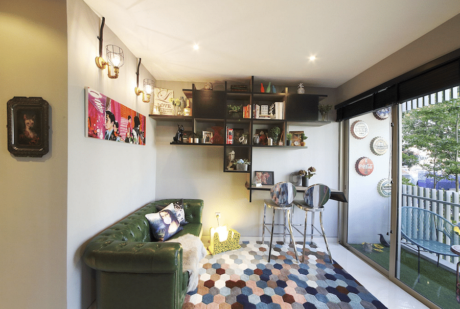House Tour: A retro-chic 600sfq apartment that costs $40,000 to renovate  title=