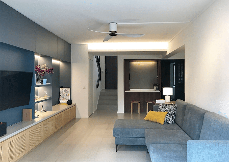 House Tour: A contemporary-style HDB maisonette bachelorette pad in Hougang title=