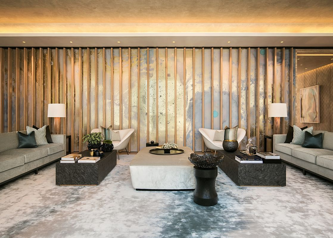 House Tour: A 3,962sqf contemporary-style penthouse furnished with bespoke wallpaper and luxurious finishes  title=