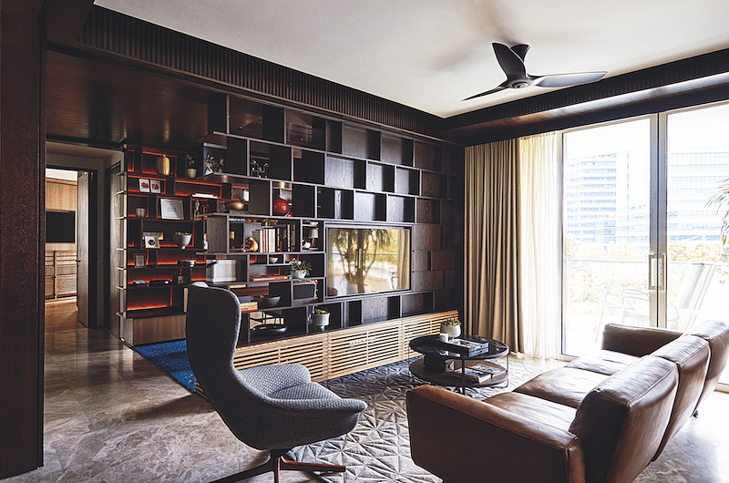 House Tour: This 3-bedder condo apartment in Keppel Bay is dark and sophisticated title=