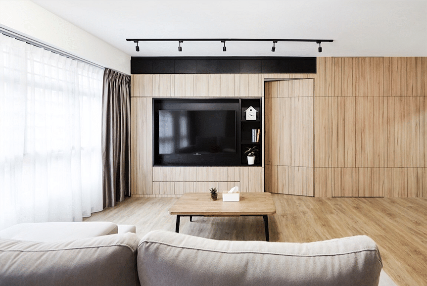 House Tour: A white-and-wood Japanese-style five-room HDB flat in Bukit Batok title=