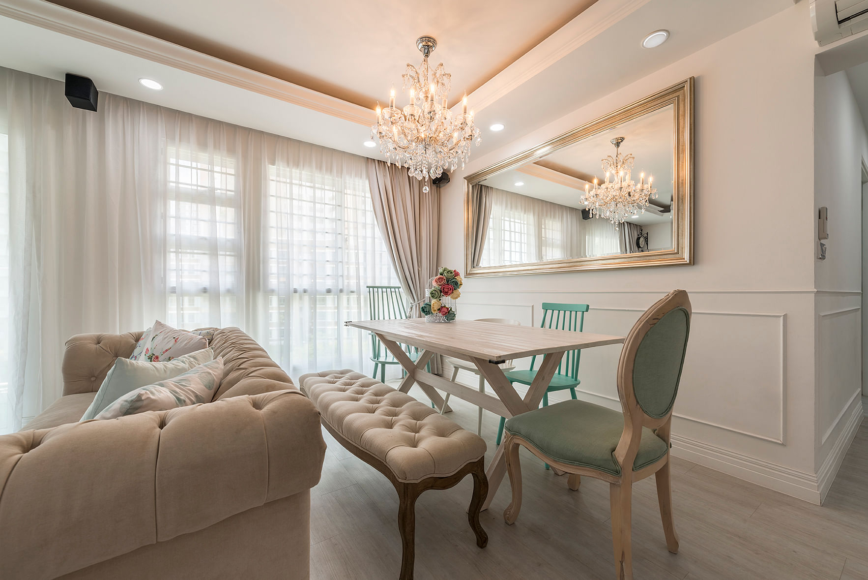 House Tour: $48,000 renovation for this Classical-inspired five-room Punggol HDB BTO home title=