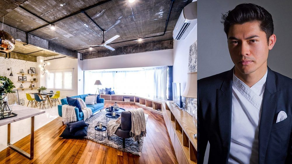 House Tour: Crazy Rich Asians star Henry Golding's amazing industrial-style apartment transformation title=