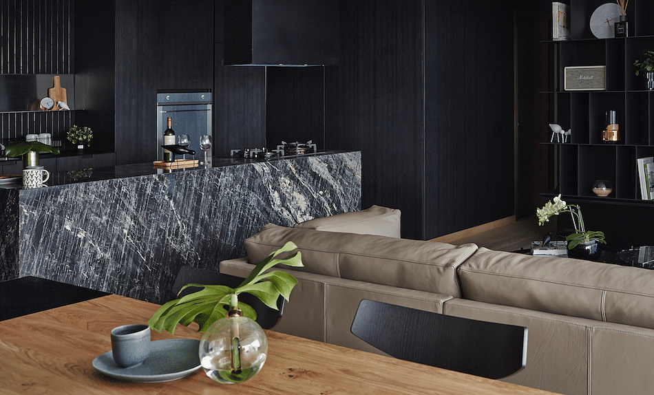 House Tour: A 3-bedroom condo apartment in Marine Parade inspired by varying shades of black title=