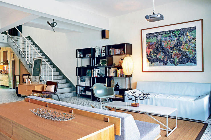 A Vintage World Map Affirms The Modern Classic Style Of This Study. To Add  More Character And Meaning To What You Put On Your Wall, Frame Up An Old Map  Of ...