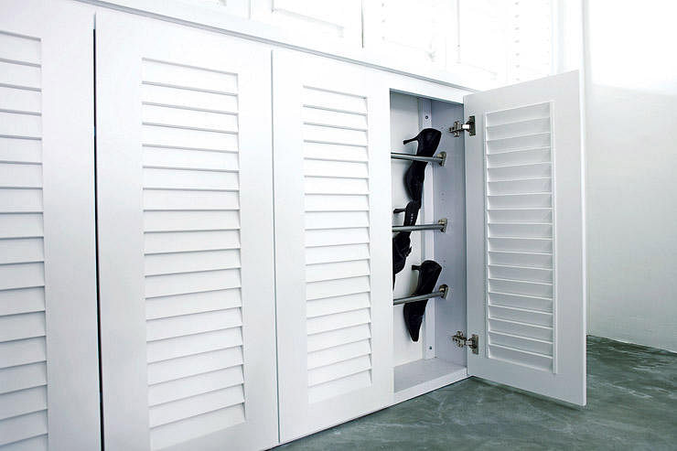 louvered kitchen cabinet doors shoe storage the right way home amp decor singapore 7182