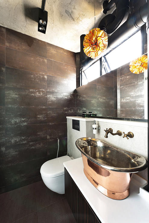 Decorating your interiors with copper home decor singapore for Bathroom sink singapore