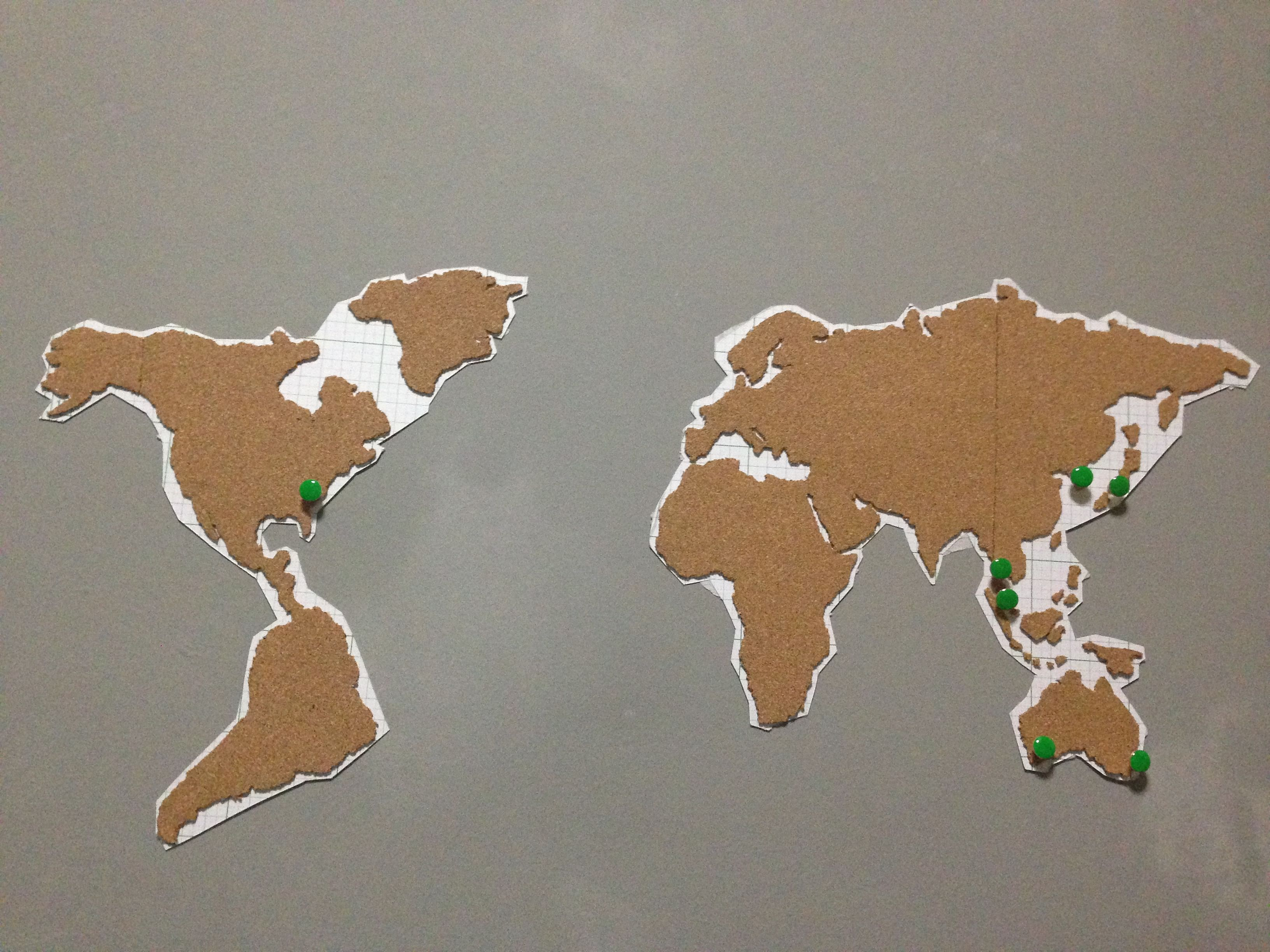 Diy corkboard world map home decor singapore diy corkboard world map gumiabroncs Choice Image