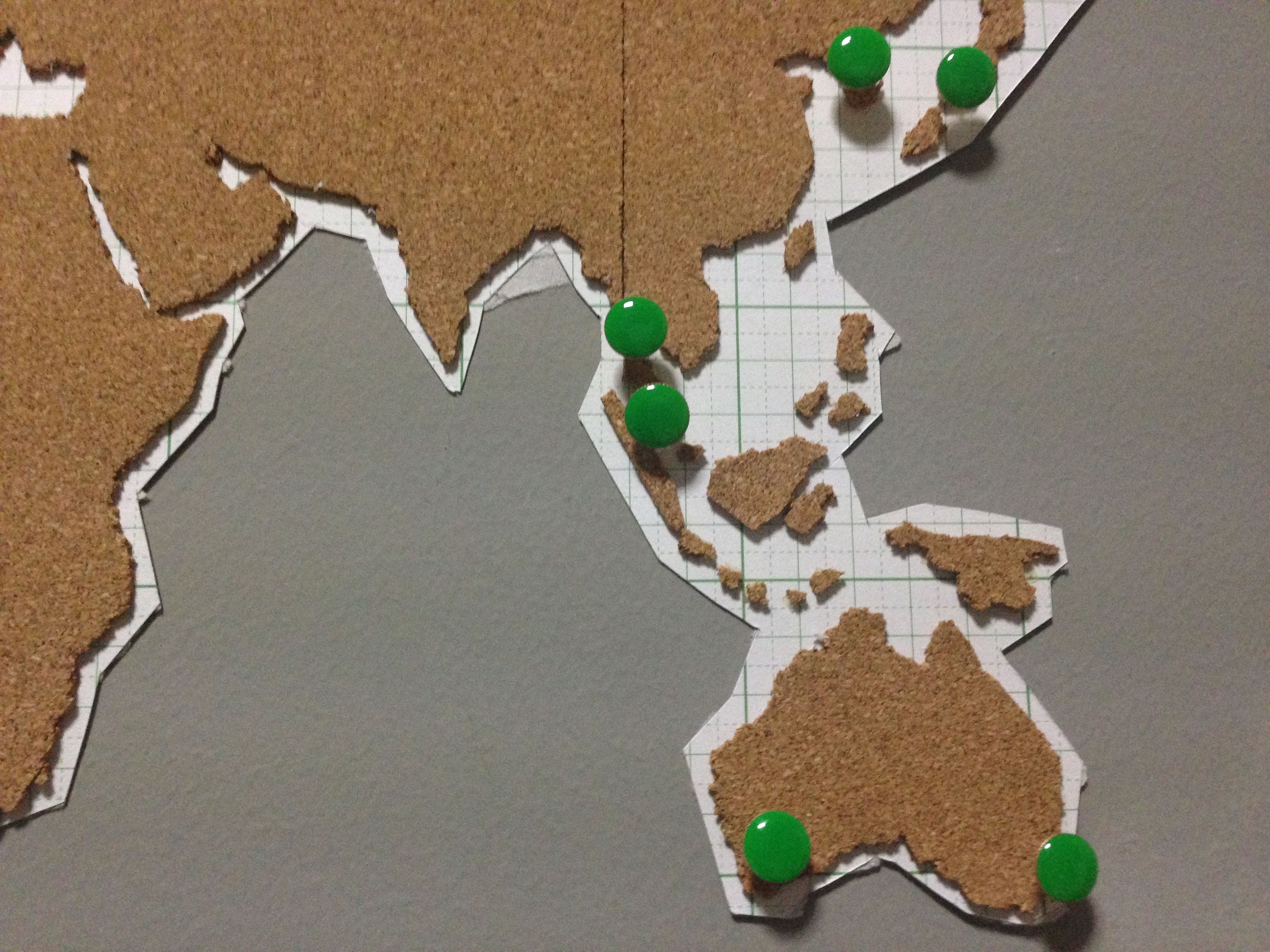 diy corkboard world map home decor singapore