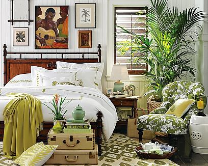 Bring home the tropical resort look and feel home for Tropical hotel decor
