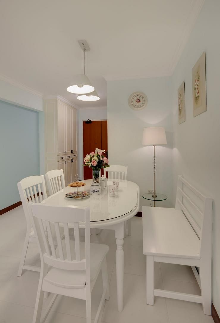 10 ways to spice up your dining room with a bench home for Country style kitchen singapore