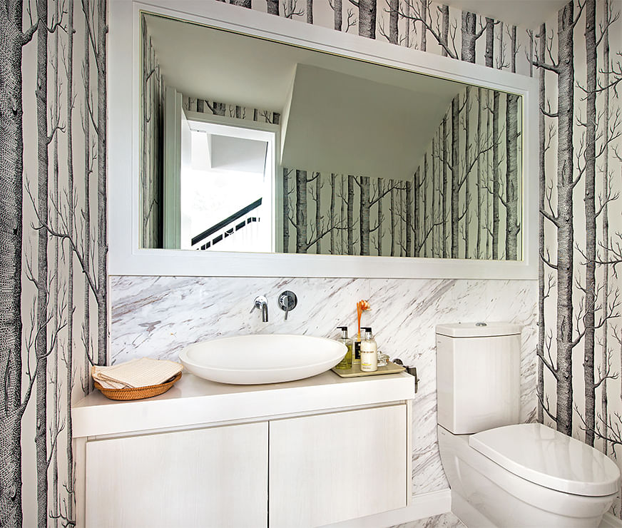 Can i use wallpaper in my bathroom home decor singapore for Bathroom ideas you can use