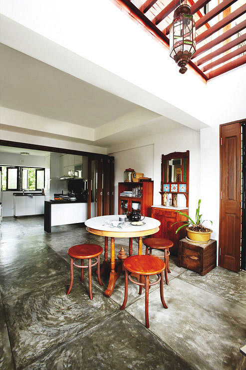 hdb maisonette with a rustic charm home decor singapore