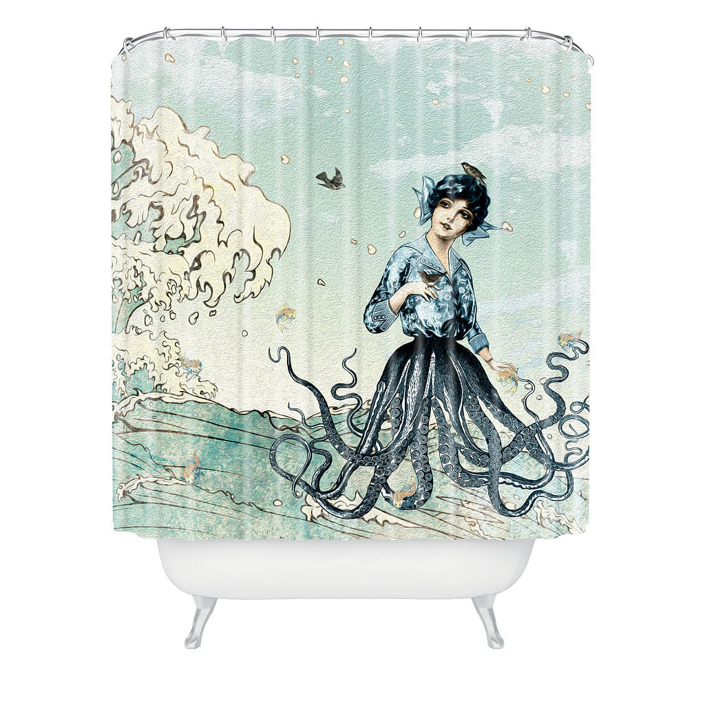 Octopus shower curtain etsy - Bathroom Shower Curtains Decorative Home Accessories 8 Intriguing Shower Curtains To Perk Up Your Bathroom