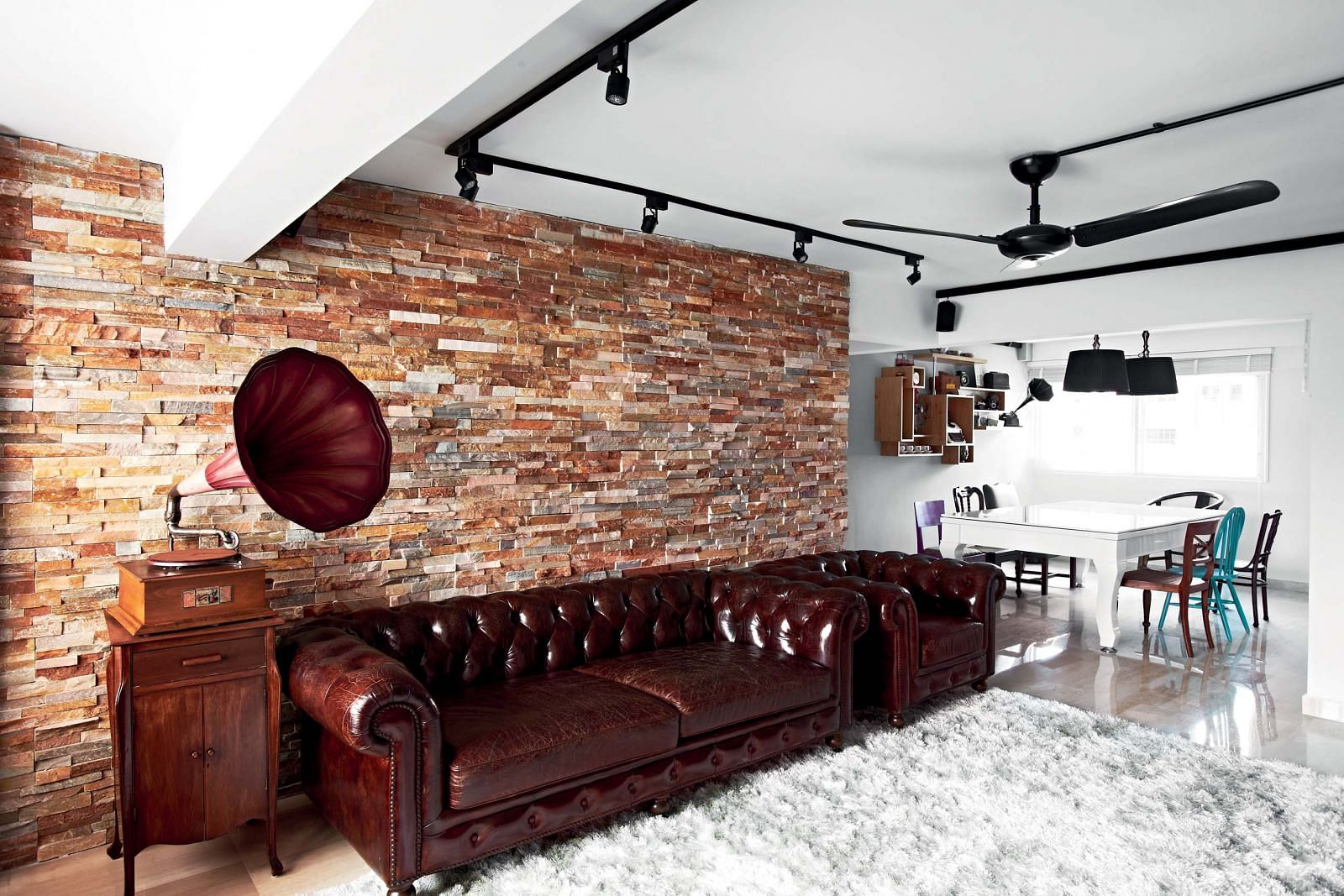 House tour a charming vintage themed five room hdb flat for Meuble brick sherbrooke