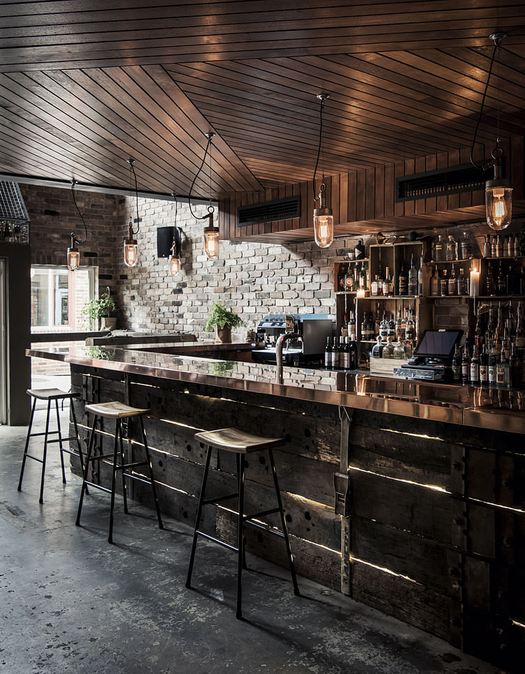 Achieve the industrial look without concrete screed this for Commercial bar flooring