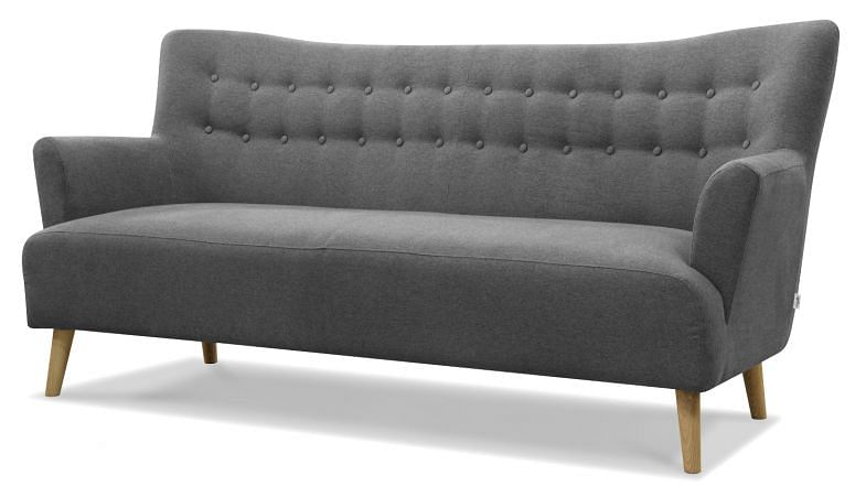 Sofa Fabric Upholstered Scandinavian Design Danish