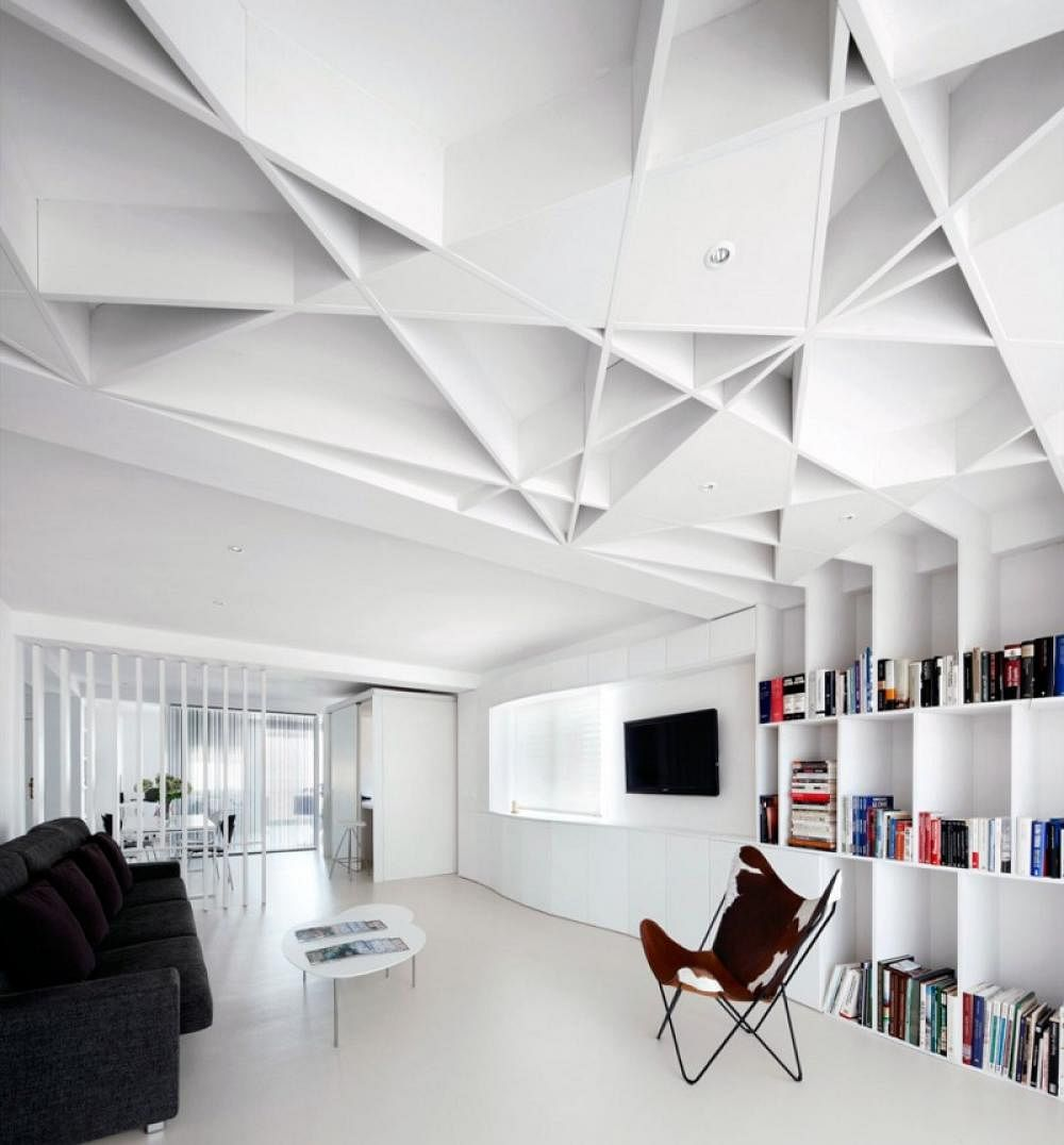 Modern Minimalist Living Room Design: 5 Trendy, Contemporary False Ceiling Design Ideas