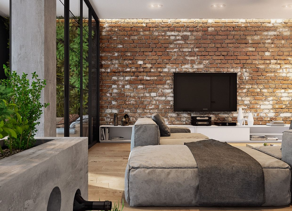 How to create a feature wall with photos - Design Idea Add A Brick Wall To A Refined Setting