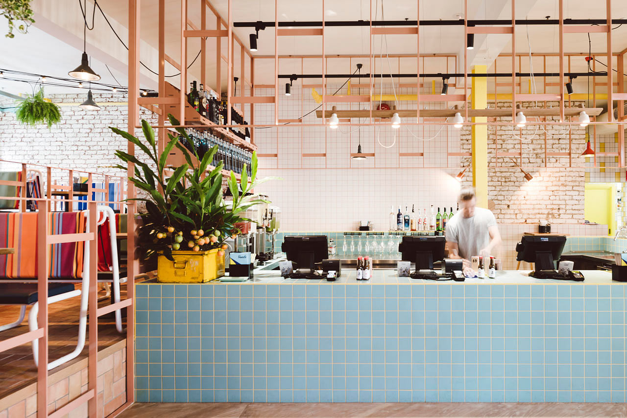 Use bold and playful colours at home this melbourne cafe for Best home decor blogs 2016