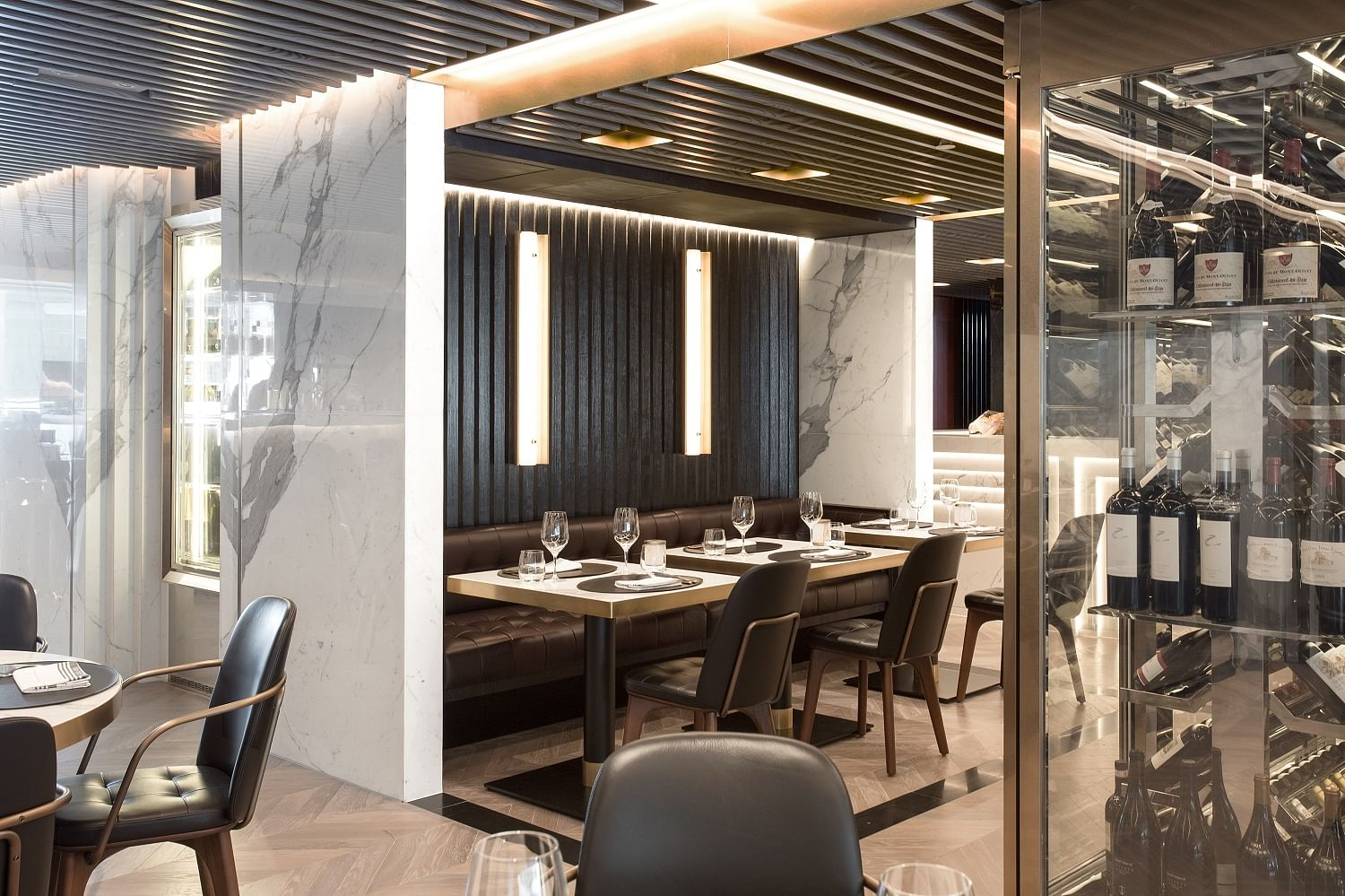 home decor ideas use black and gold home decor singapore the minimalist decor throughout the restaurant allow the characteristics of these materials to shine through we especially love the shade of amber copper