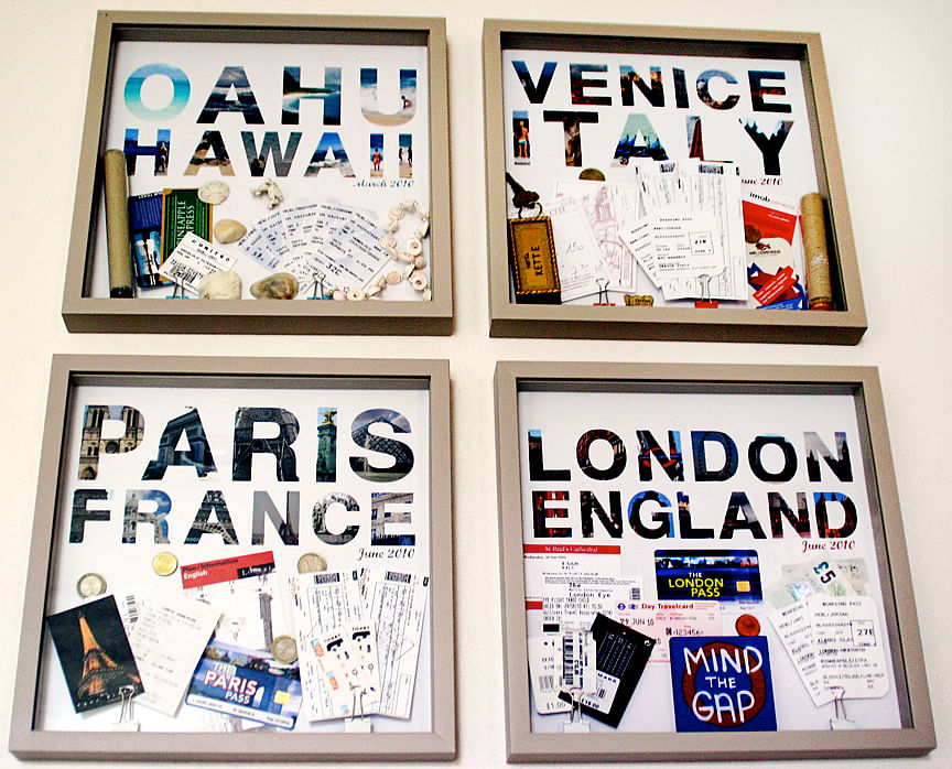 6 things to frame other than art home decor singapore frame travel memories scrapbook home decor solutioingenieria Images