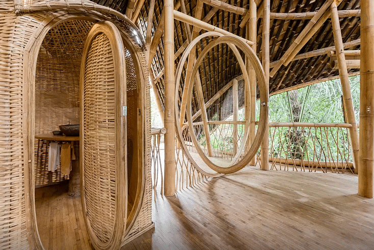 This House Is Made Out Of Bamboo And You Can Stay In It