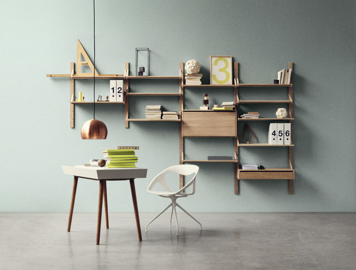 Wall Mounted Racks Desks And Shelves That Save Space And Look Good Home Amp Decor Singapore
