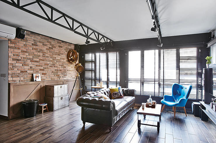 3 industrial chic HDB flat homes with trendy ideas Home Decor