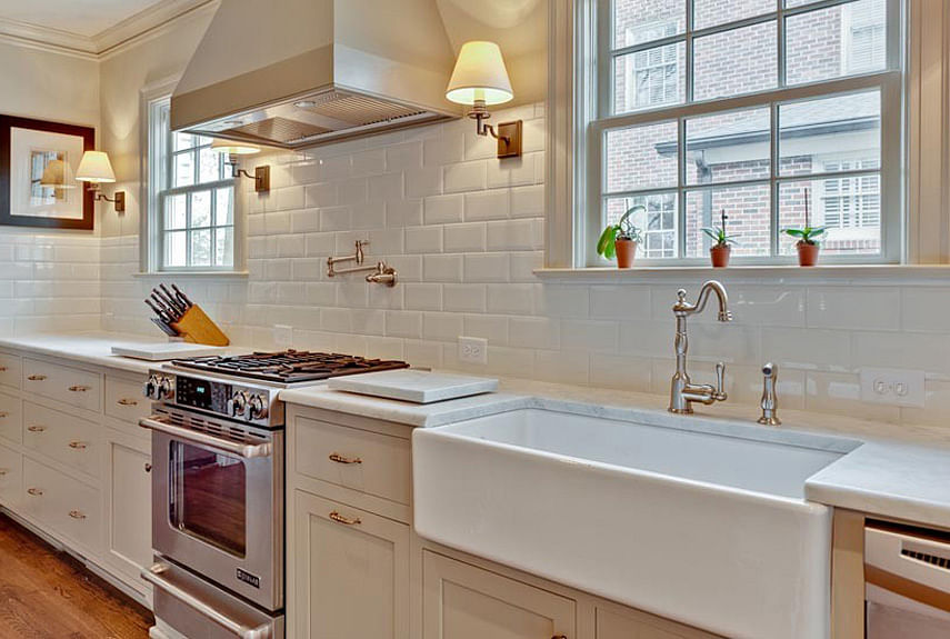 Kitchen Design Ideas 48 Elements Of A Modern Classicstyle Kitchen Custom Backsplash Tile With White Cabinets Decor
