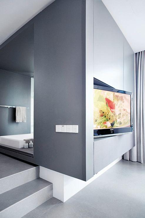Bathroom Design Openconcept Bathrooms In This Condo Apartment Adorable Apartment Bathroom Designs Concept