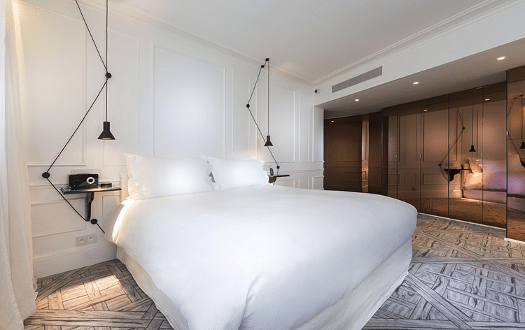 Pair your whites with    quirky non white elements that standout   image   La Maison Champs Elysees. 7 timeless and stylish white themed bedrooms   Home   Decor Singapore