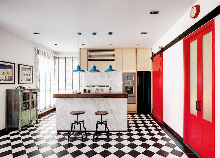 6 homes with black and white checkered floors | Home & Decor Singapore