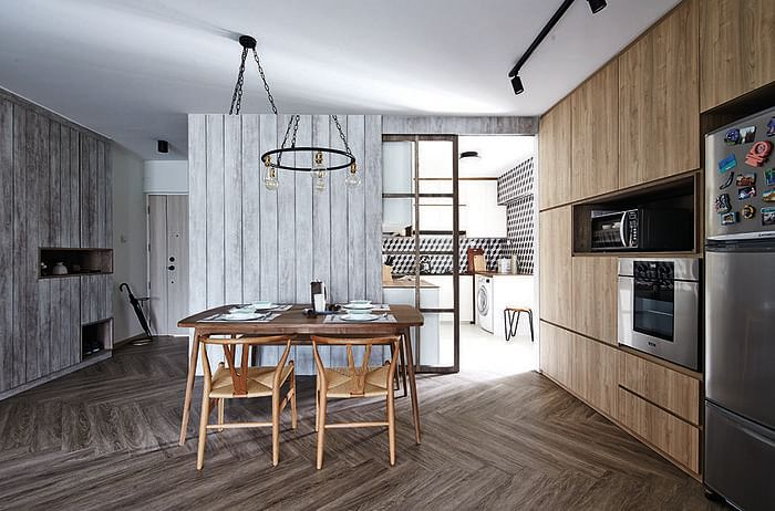 3 hdb flat homes with 90 000 renovations home decor for Hdb household shelter design