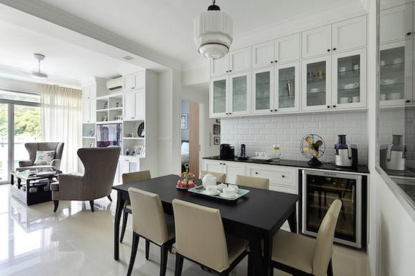 9 chic homes with white brick walls home decor singapore for Household articles ltd registered design