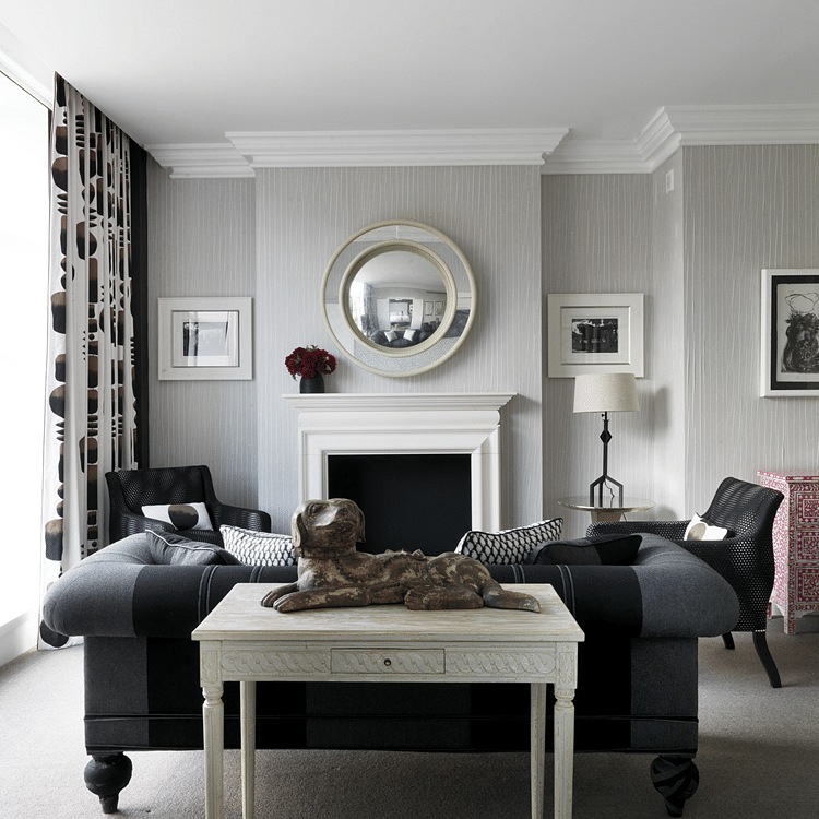 White And Grey Room: 4 Elegant All-grey Living Rooms