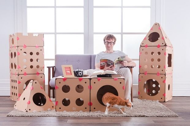This Modular Cat House Is Easy To Build And Pack Away