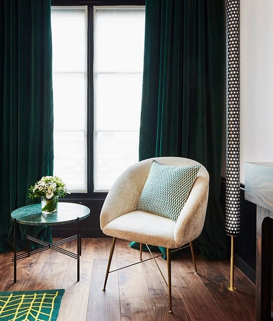 Elegant Interiors Using Rose Gold And Emerald Green Home