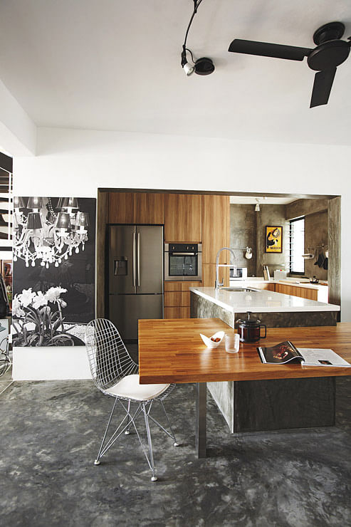 Kitchen Design Industrial Chic In This Penthouse
