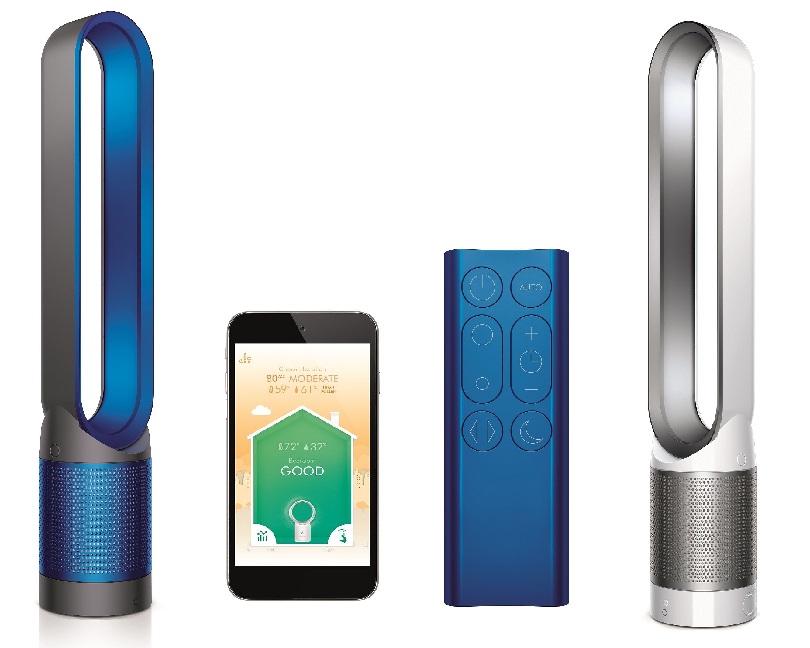 Smart Air Purifiers Dyson Pure Cool Link Vs Philips 3000
