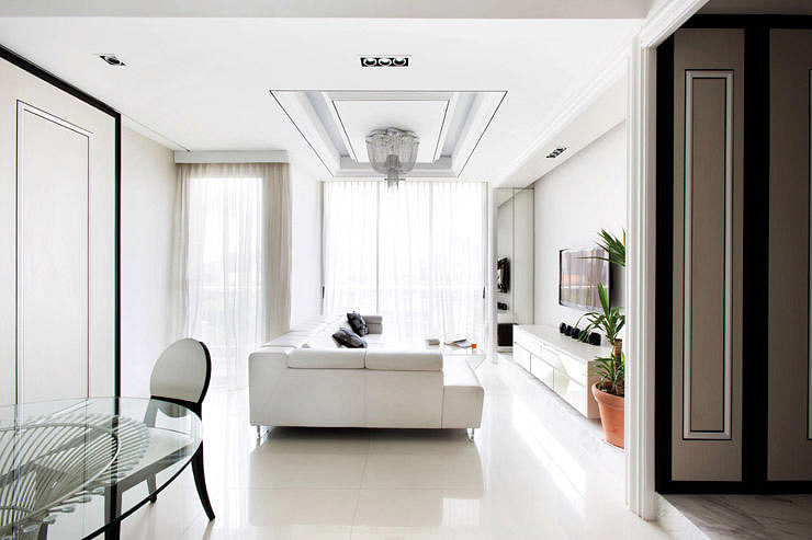 A Classical And Elegant Home Apartment By Metaphor Studio