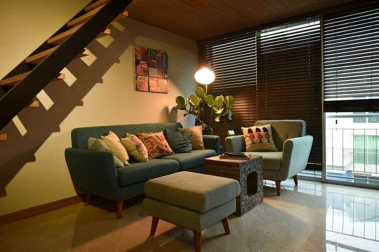 Living Room Loft Apartment
